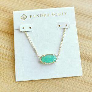 Kendra Scott Elisa chalcedony necklace gold